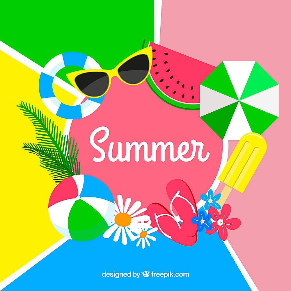 五颜六色的背景与夏日相得益彰_2297743