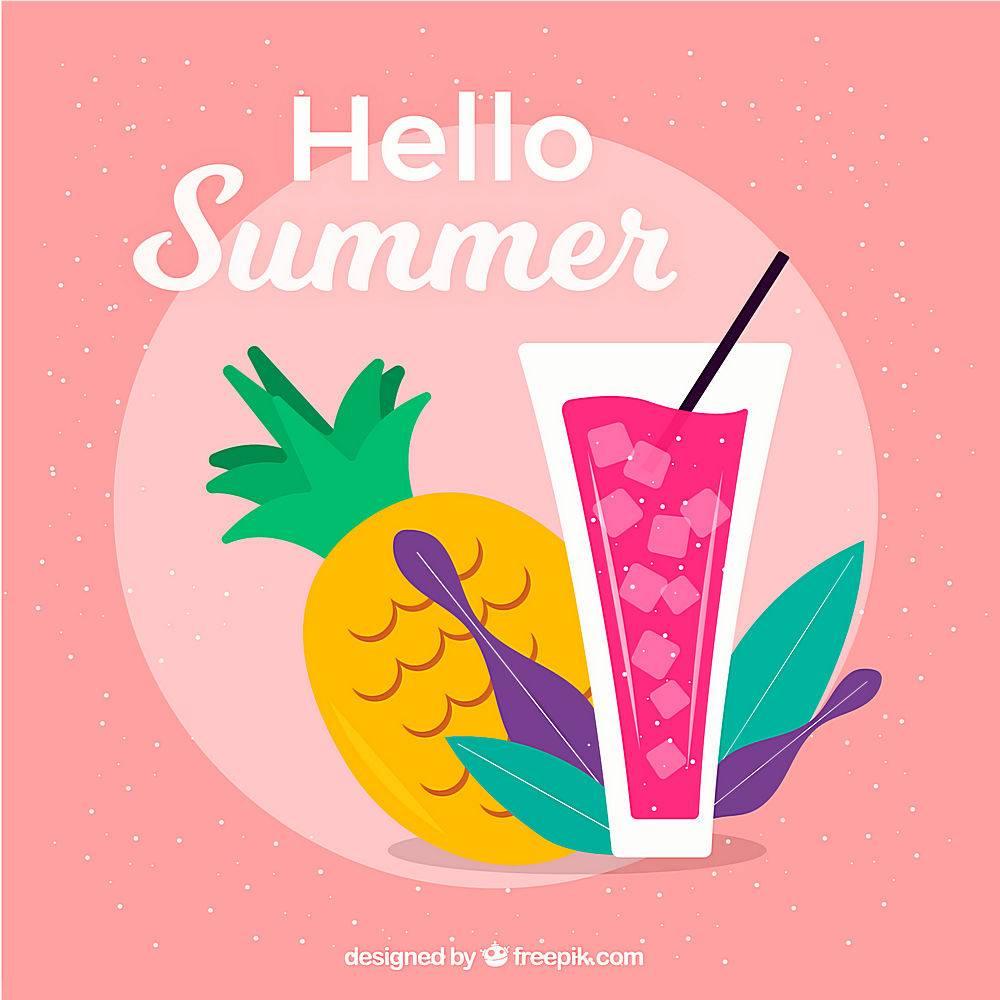 美味的夏日水果背景_2147264