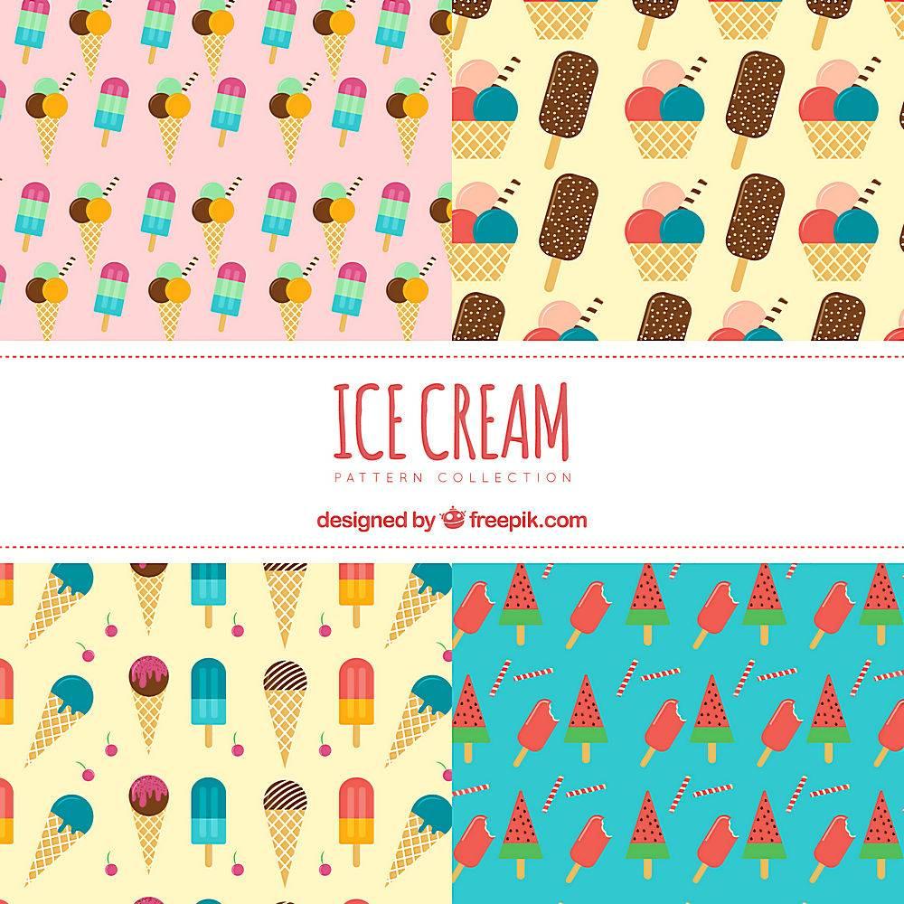 平面设计中的冰激凌图案_1140809
