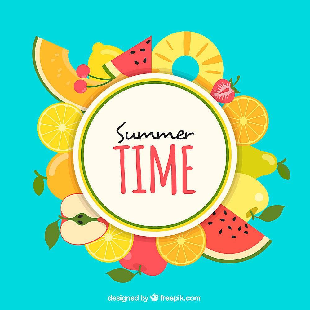夏日水果背景_1136243