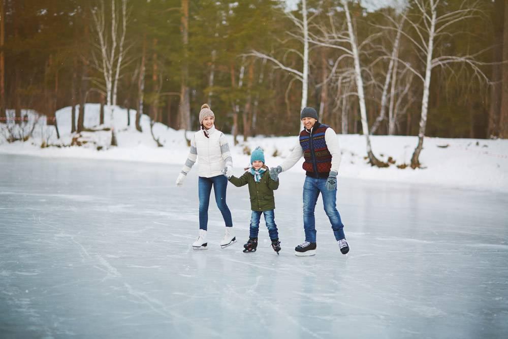 溜冰场上的全家福_5401839
