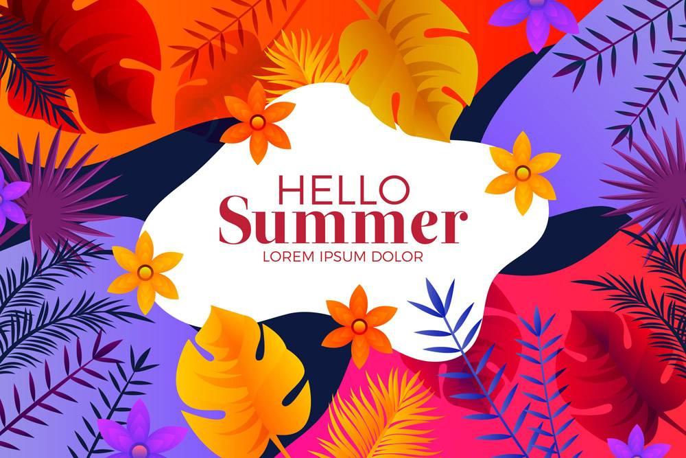 你好夏日背景_8465958