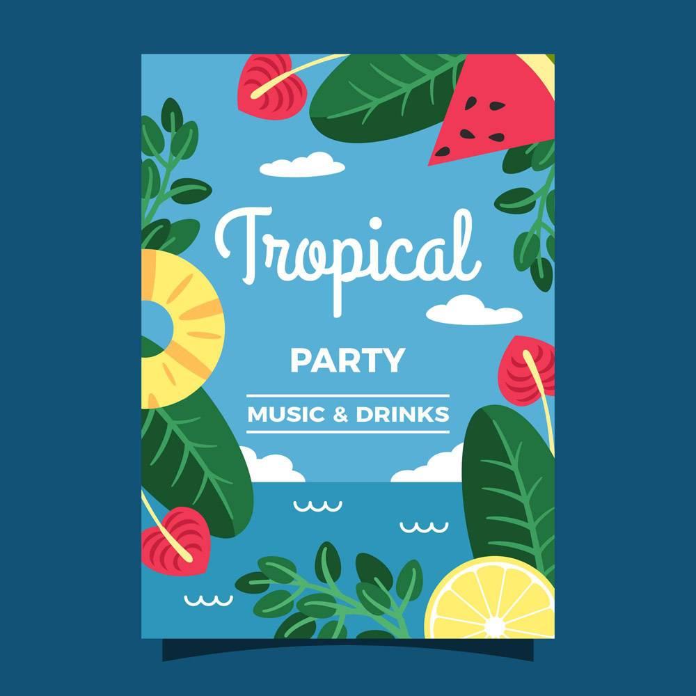 热带派对海报模板_7963760