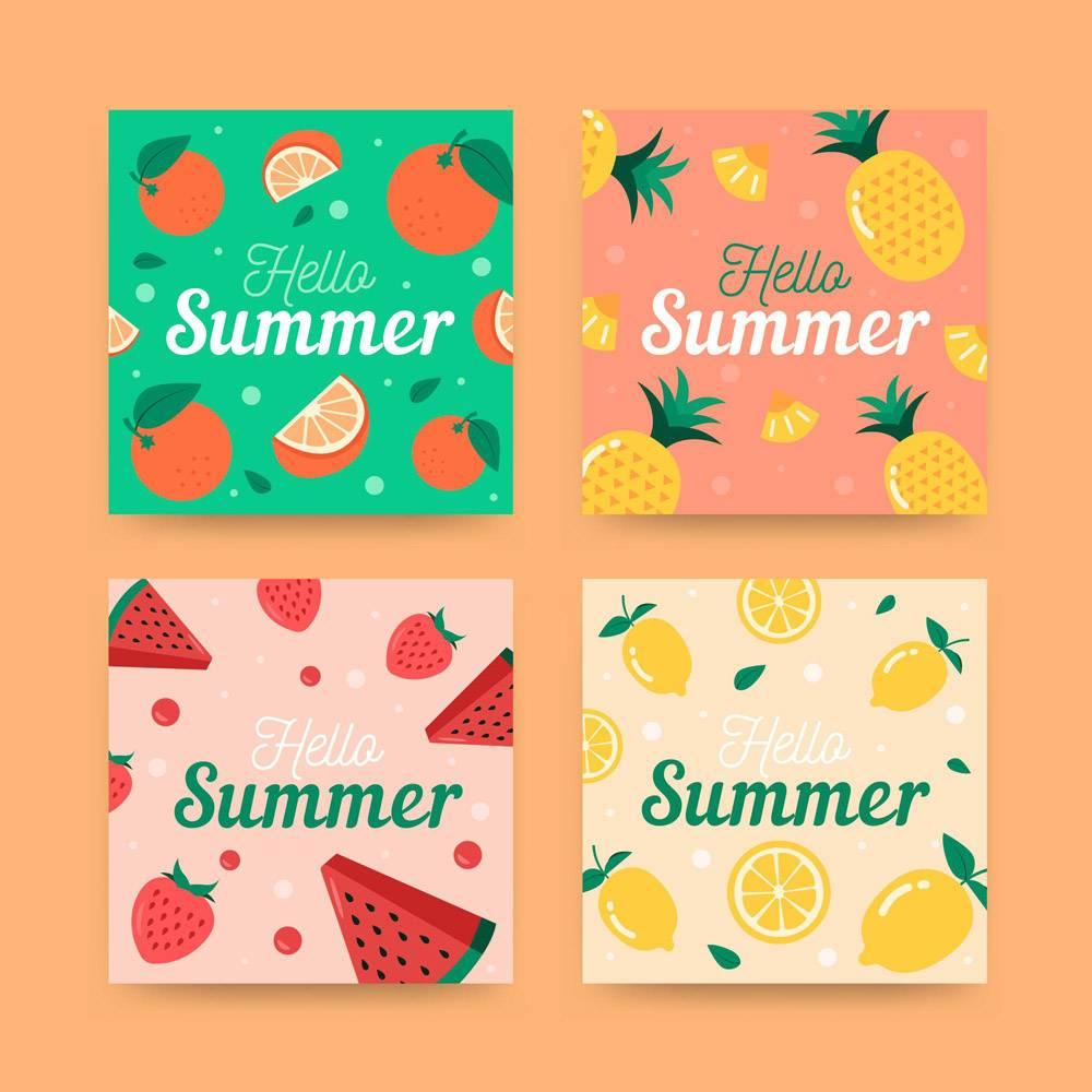 平面设计的夏季卡片_8247550