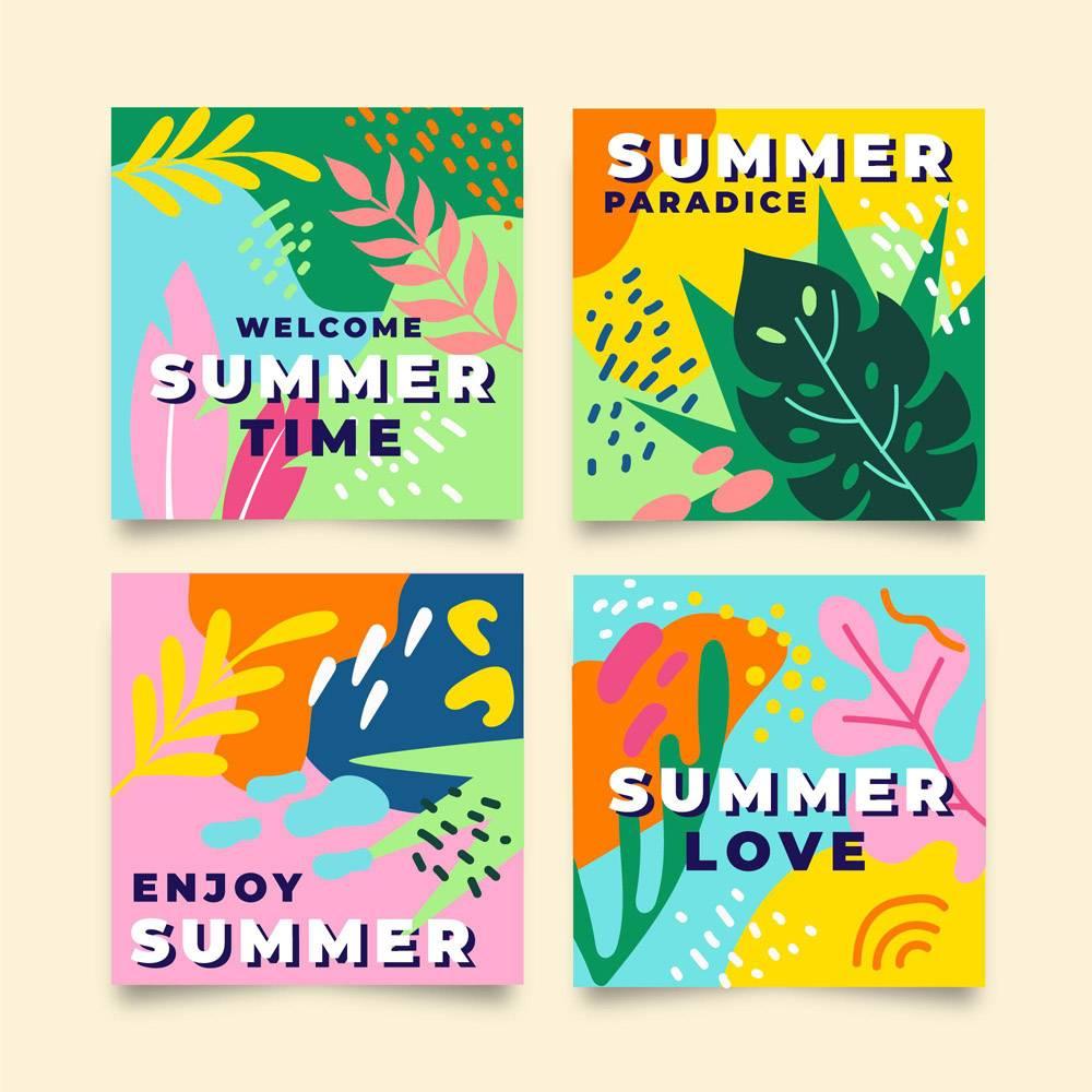 平面设计的夏季卡片_8272705