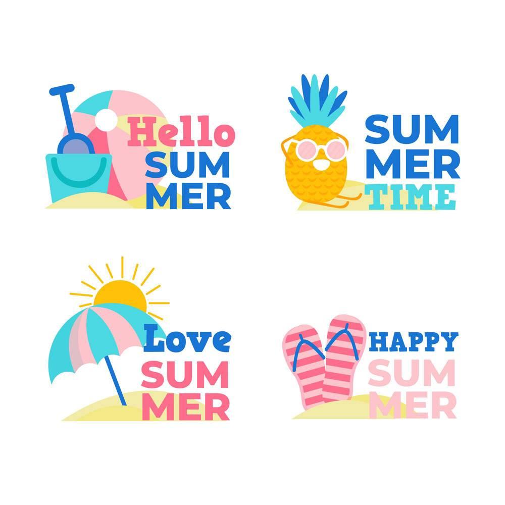 平面设计的夏季徽章_7964227