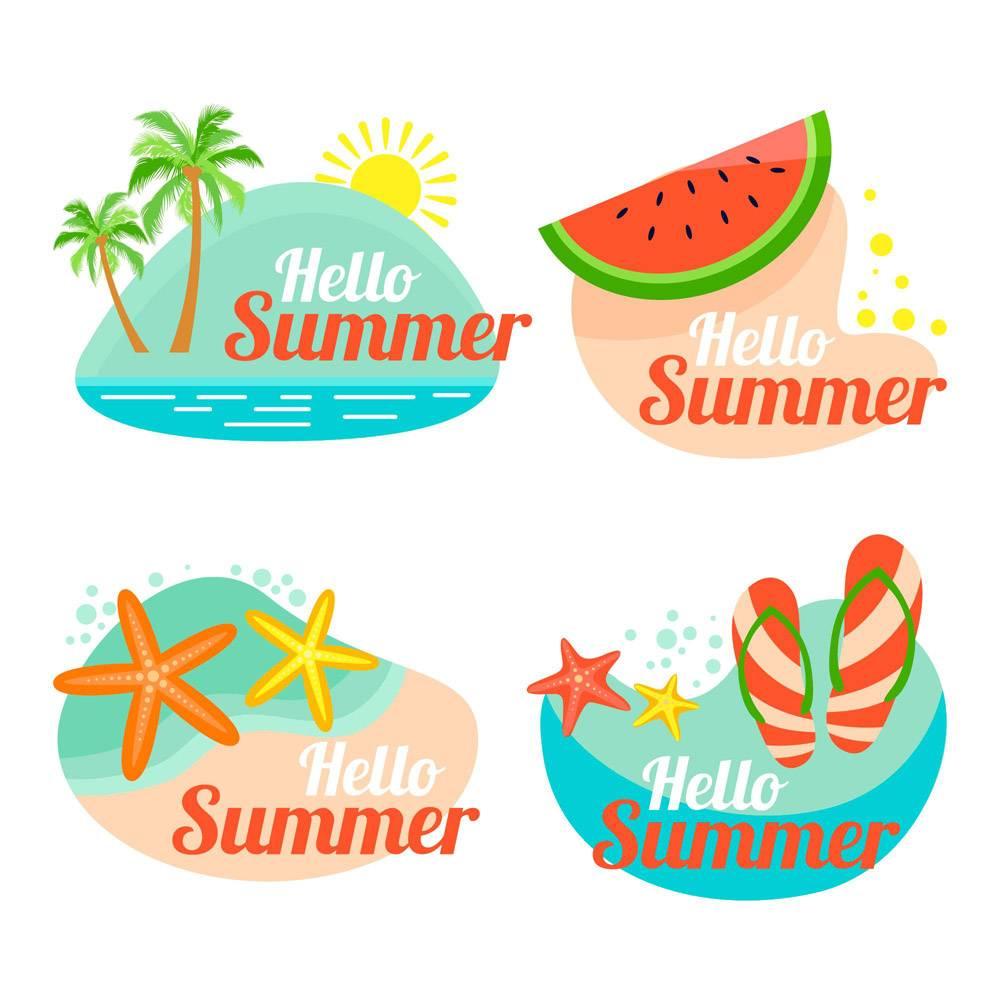 平面设计的夏季徽章_8132570
