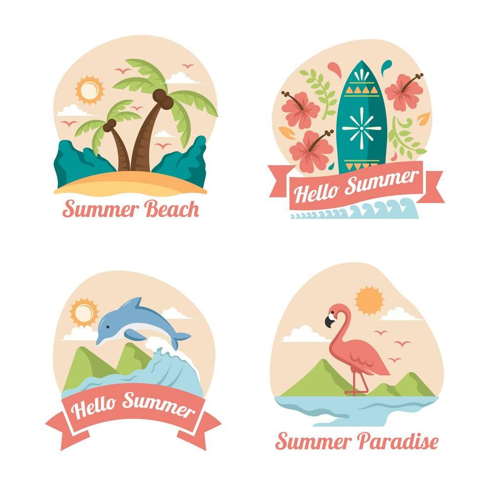 平面设计的夏季标签_8247540