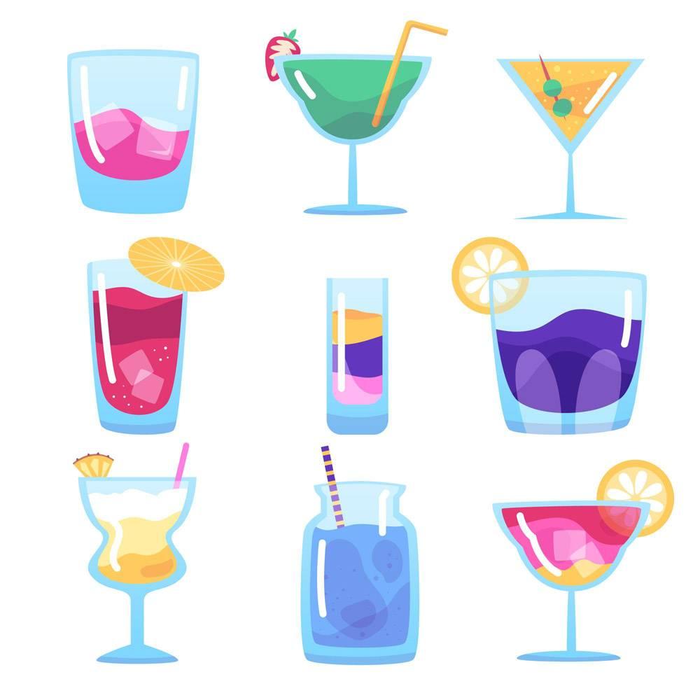平面设计的鸡尾酒系列_9010622