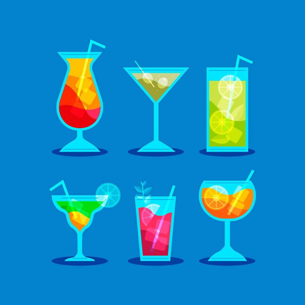 平面设计的鸡尾酒系列_9159001