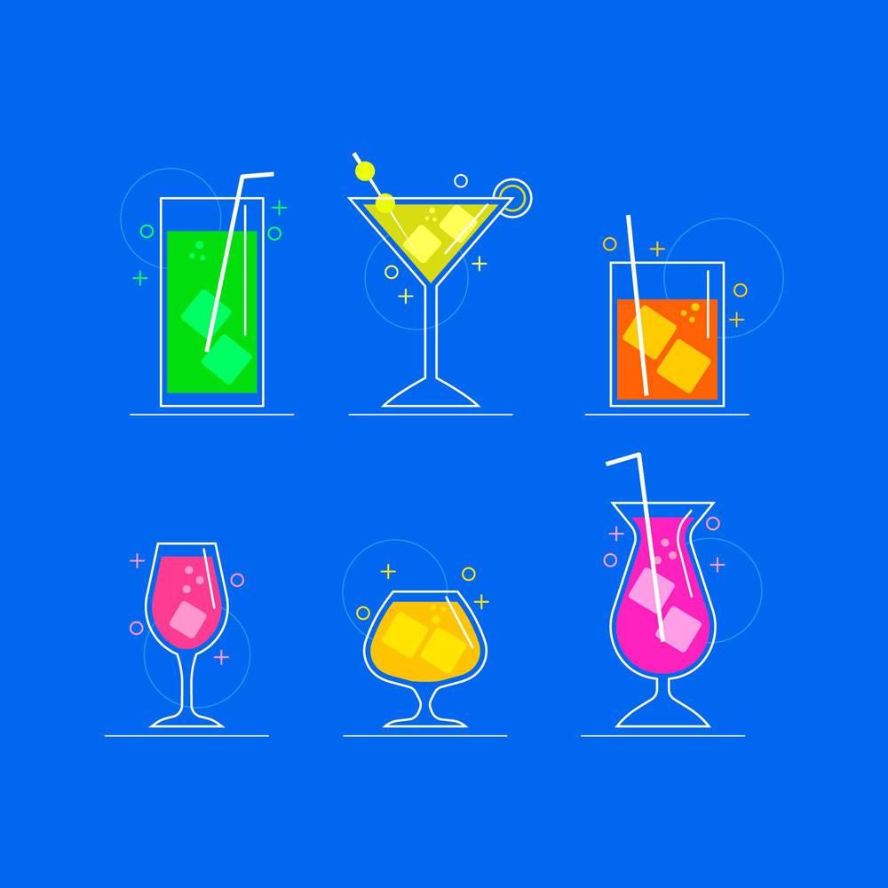 平面设计的鸡尾酒系列_9159010