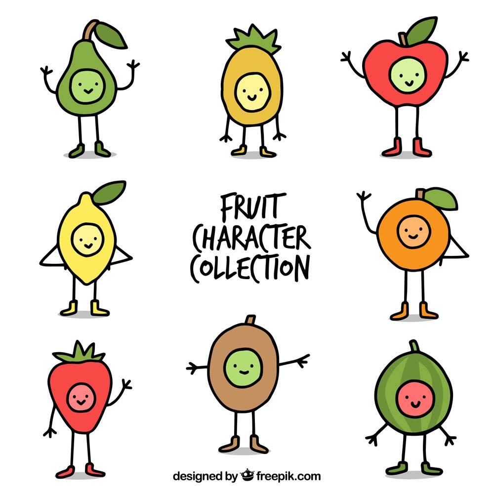 形态各异的手绘水果字_1144485
