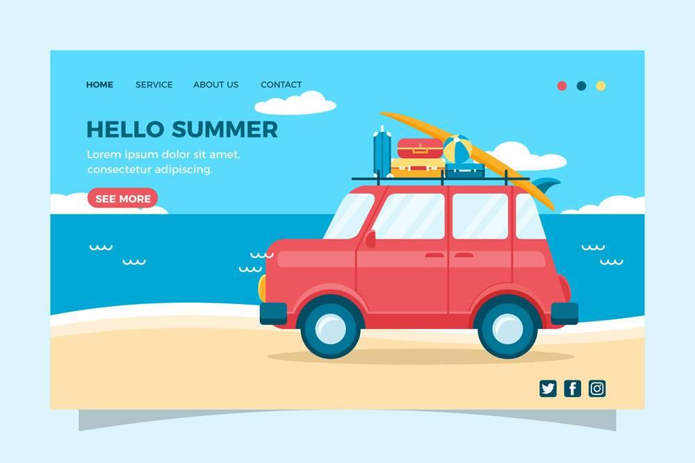 您好夏季登录页面模板_7961014