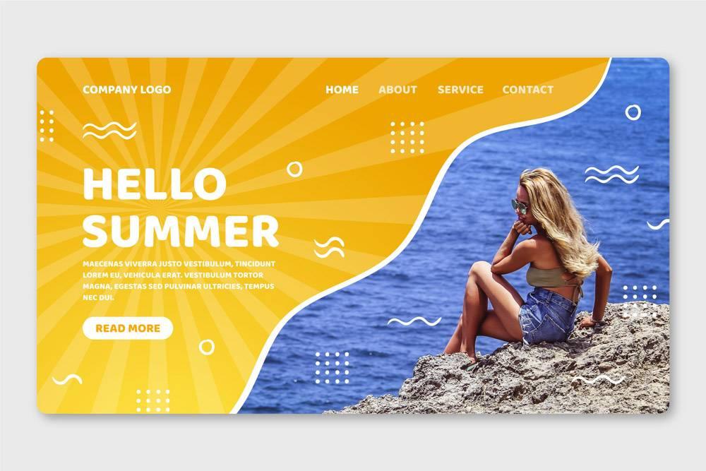您好夏季登录页面_8090153