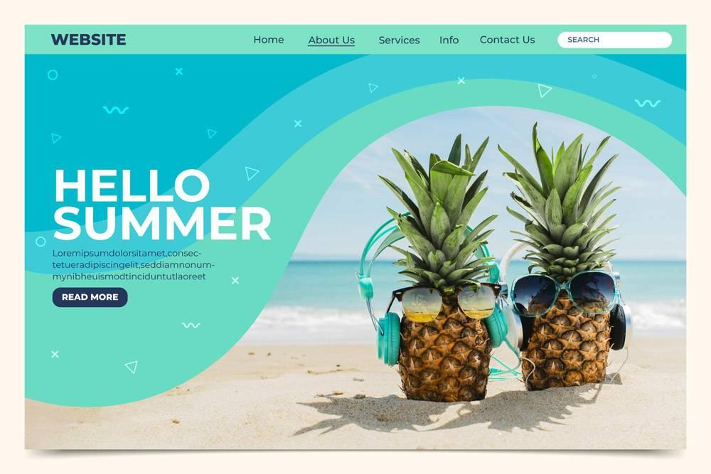 您好夏季登录页面_8141260