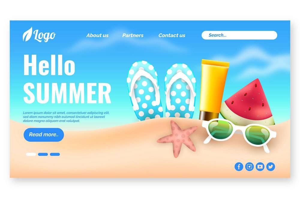 您好夏季登录页面_8247584
