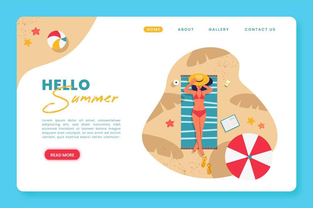 您好夏季登录页面_8475051