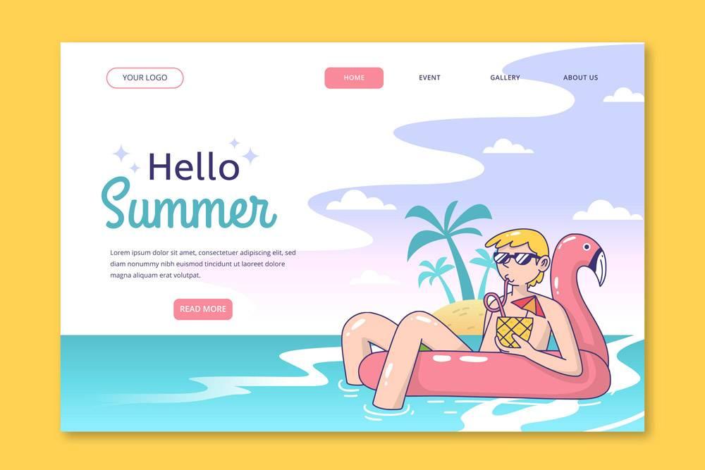 您好夏季登录页面主题_8090162