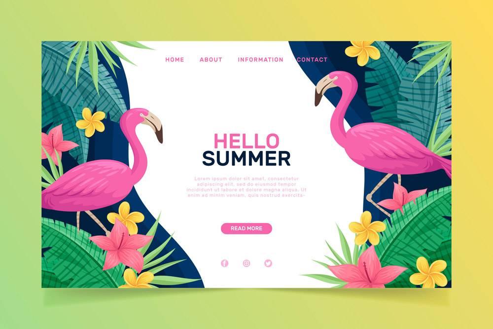 您好夏季登录页面模板_7969191