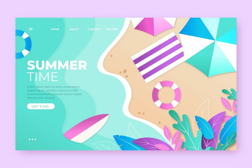 您好夏季登录页面模板_8062079