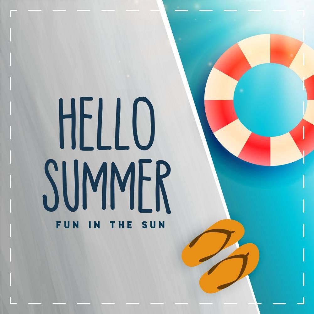 您好夏日游泳池游泳卡_4725035