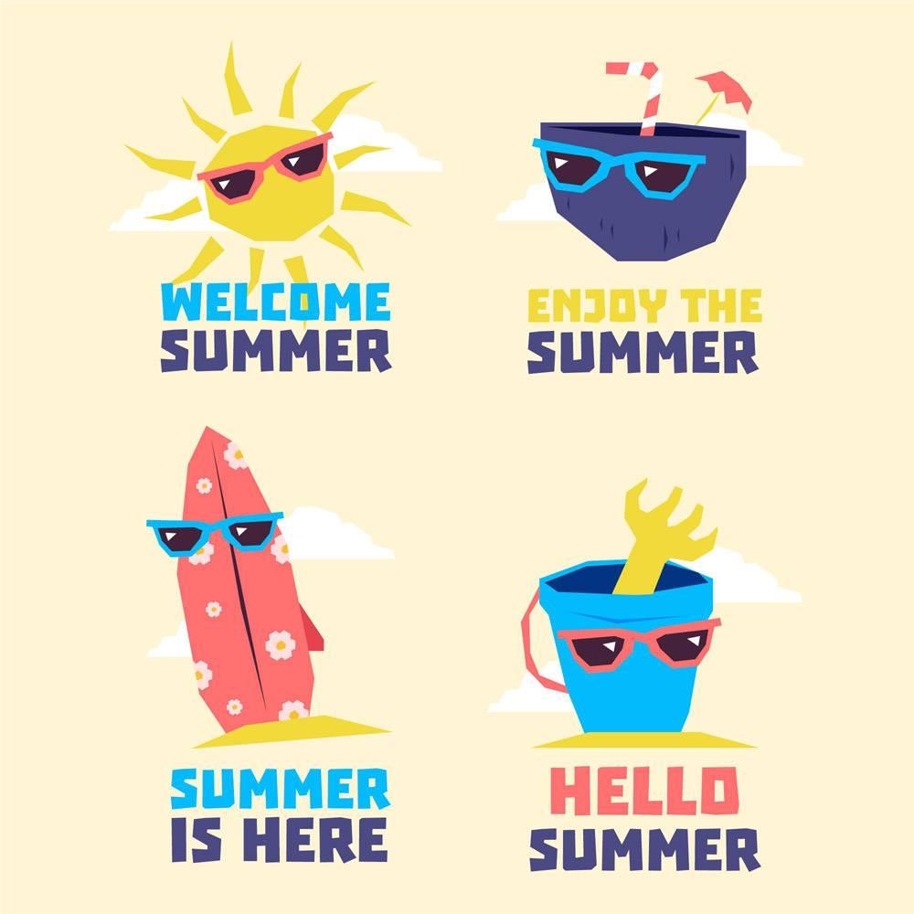 戴墨镜的夏日元素系列_8508252