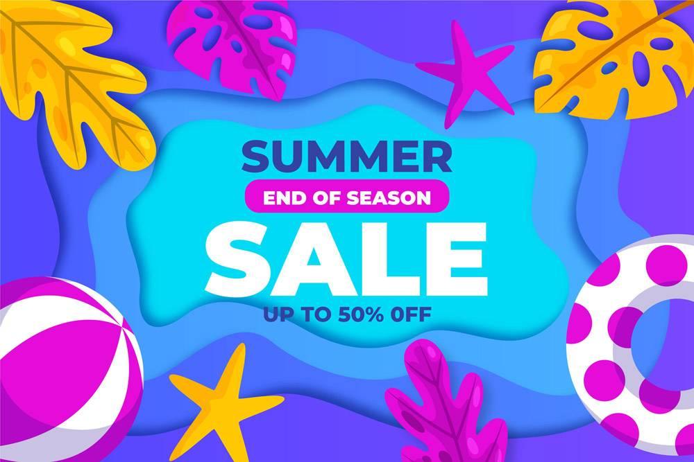 季末夏季促销概念_9456723