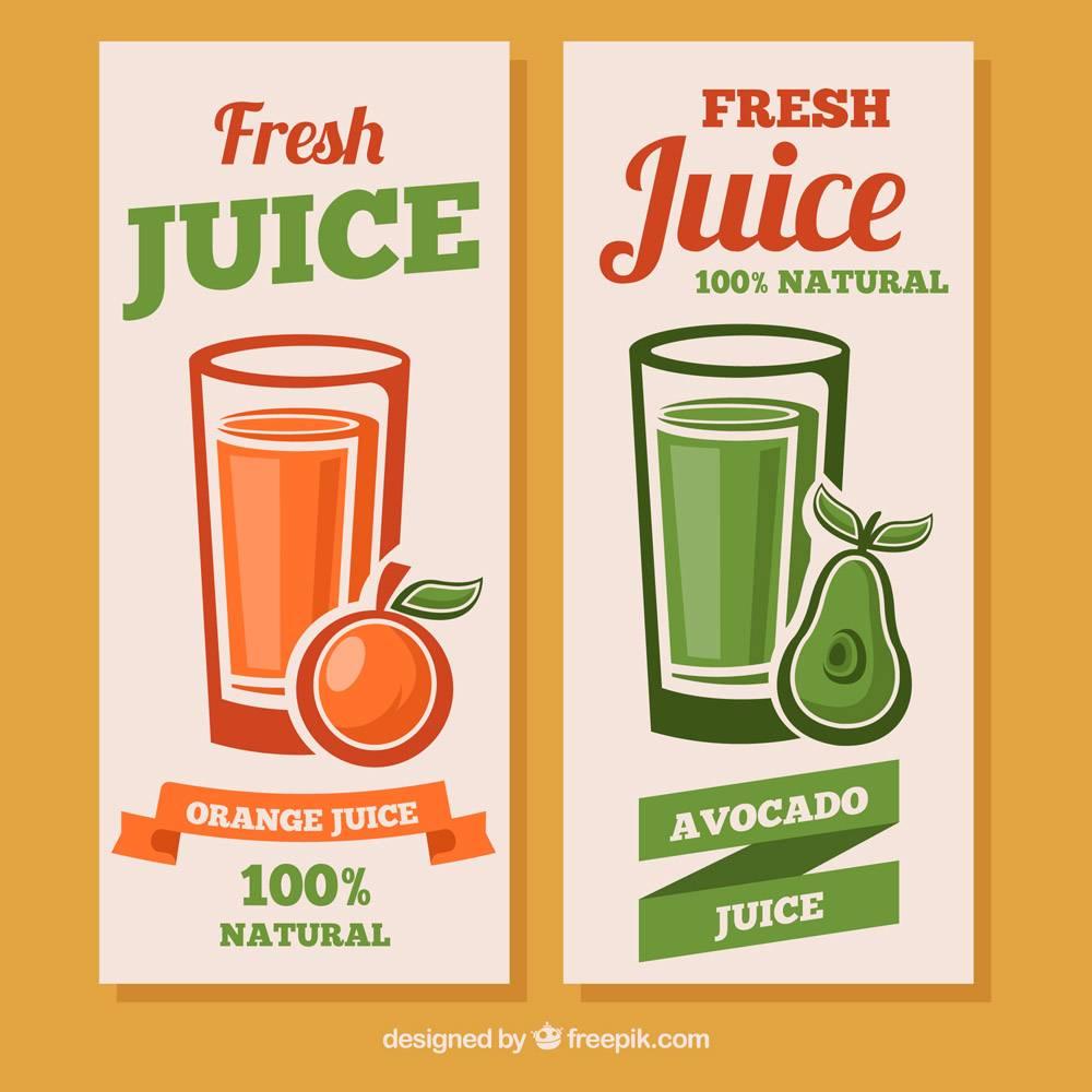带有鳄梨和橙汁的奇妙横幅_1111215