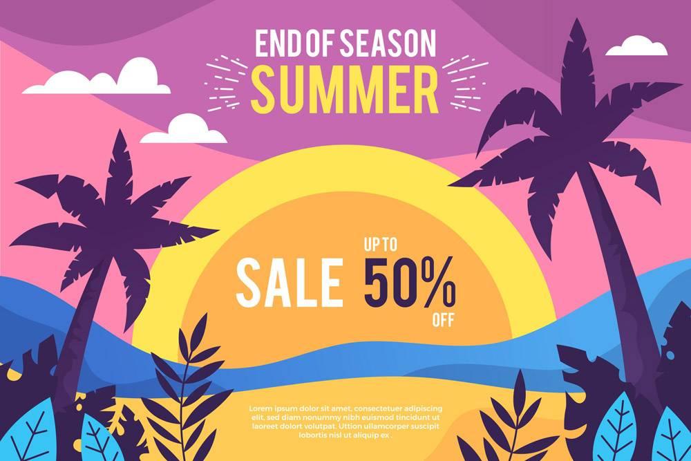 季末夏季促销概念_9456726