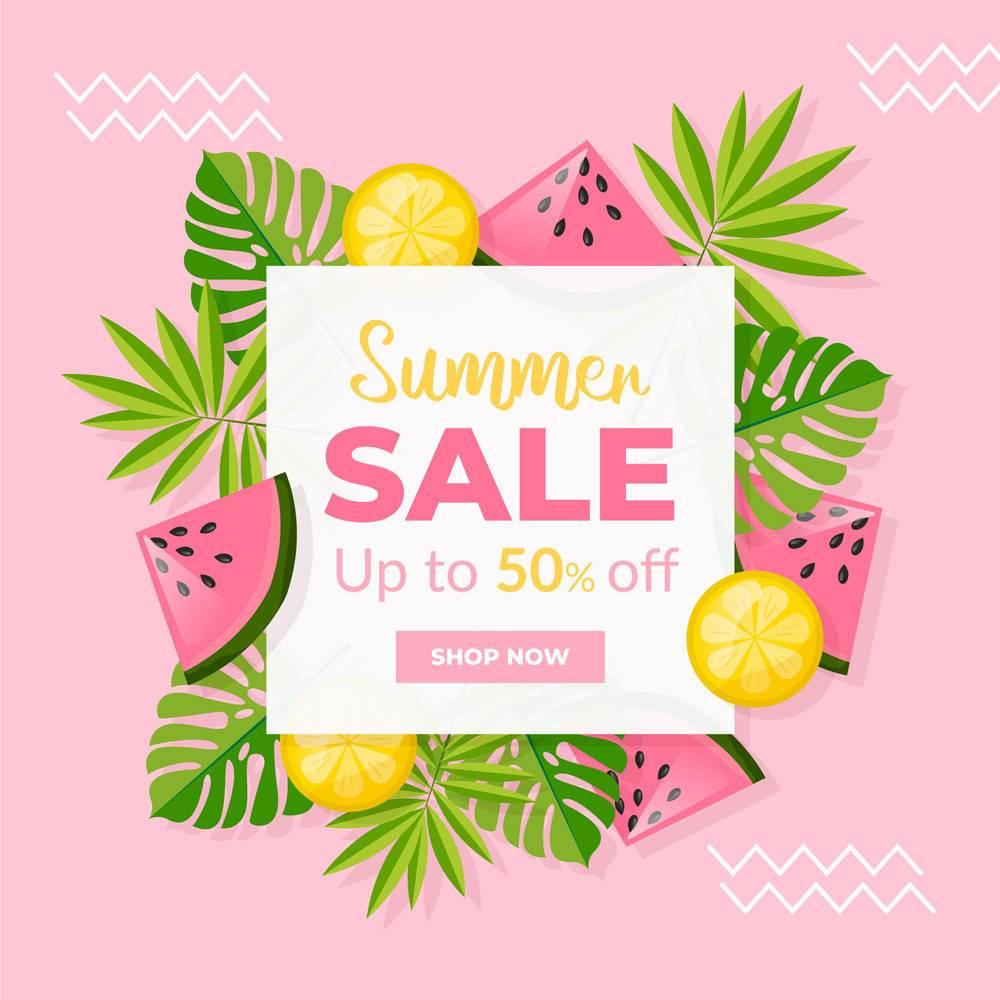 带水果的夏季促销公寓设计_8248250