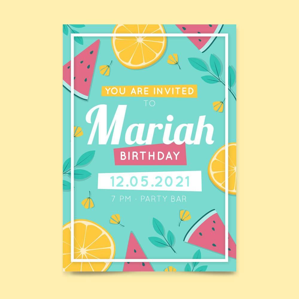 带水果的生日请柬模板_9664696