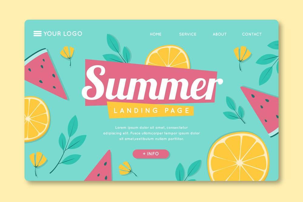 带水果的登录页面模板_9664739