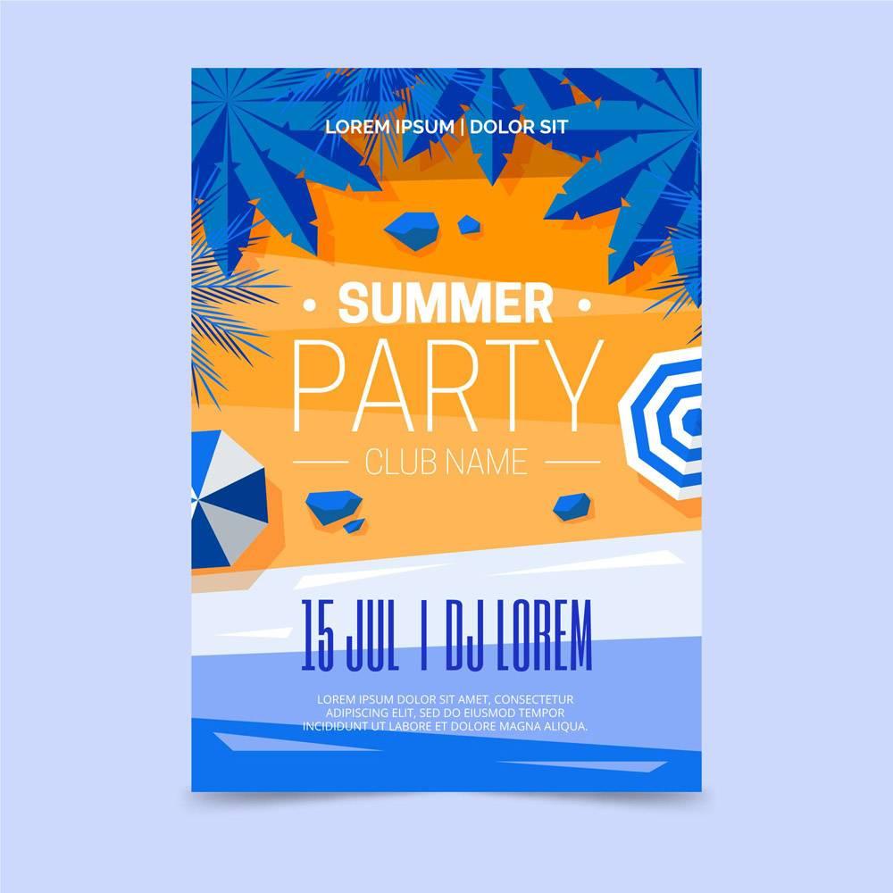 带海滩的夏日派对海报_8400861