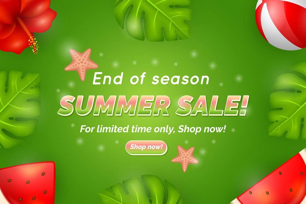 季末夏季销售登录页面模板_9557737