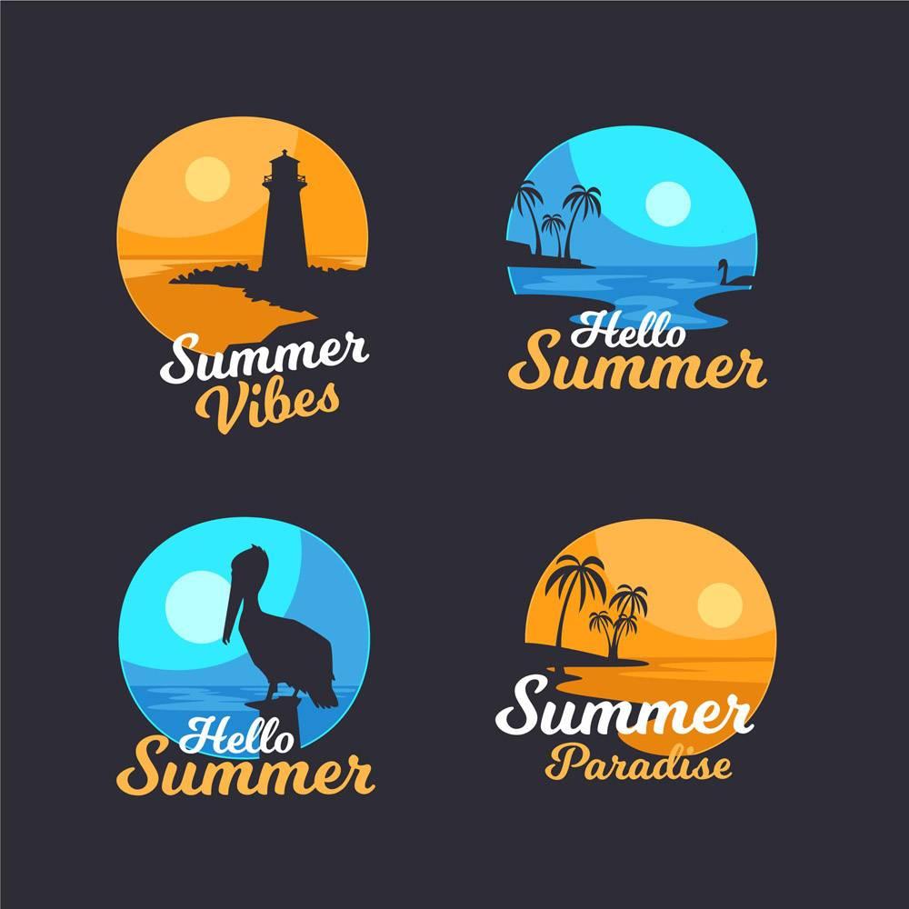 平面设计夏季徽章系列_7962553