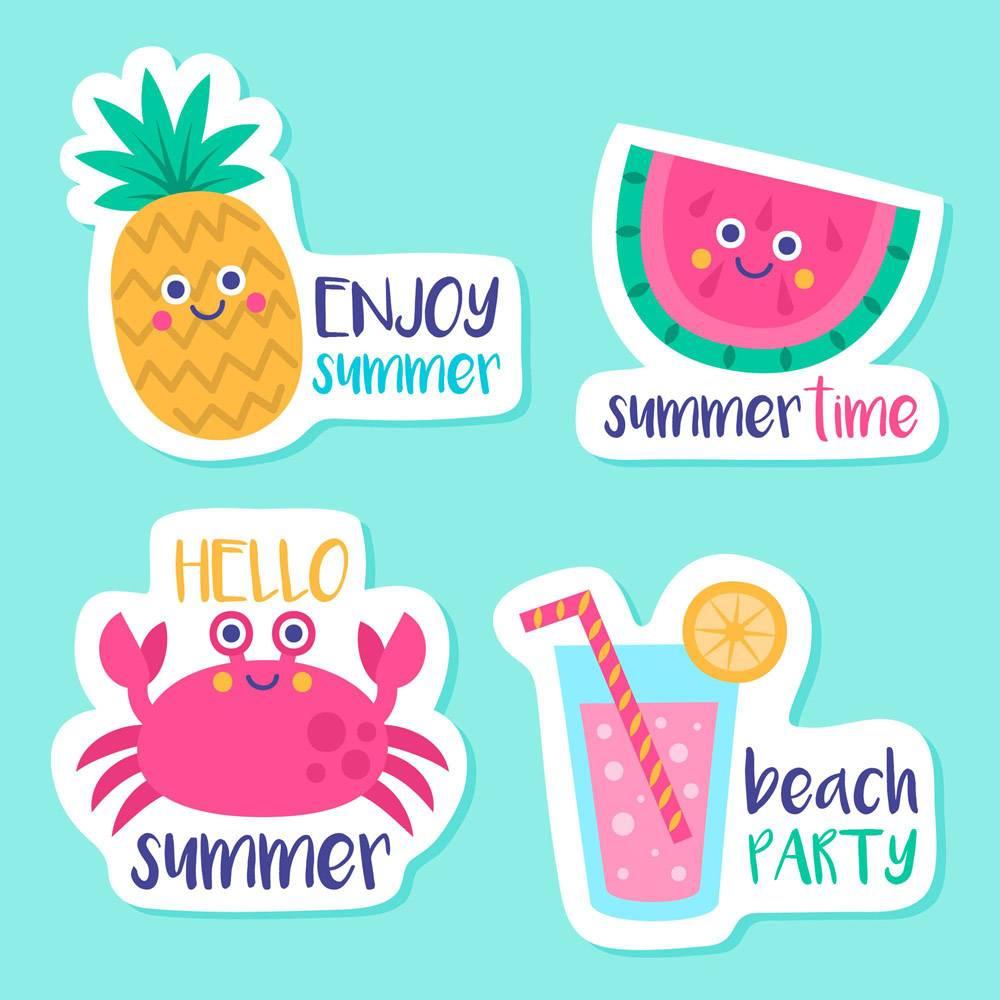 季节性手绘夏季标签系列_8244914