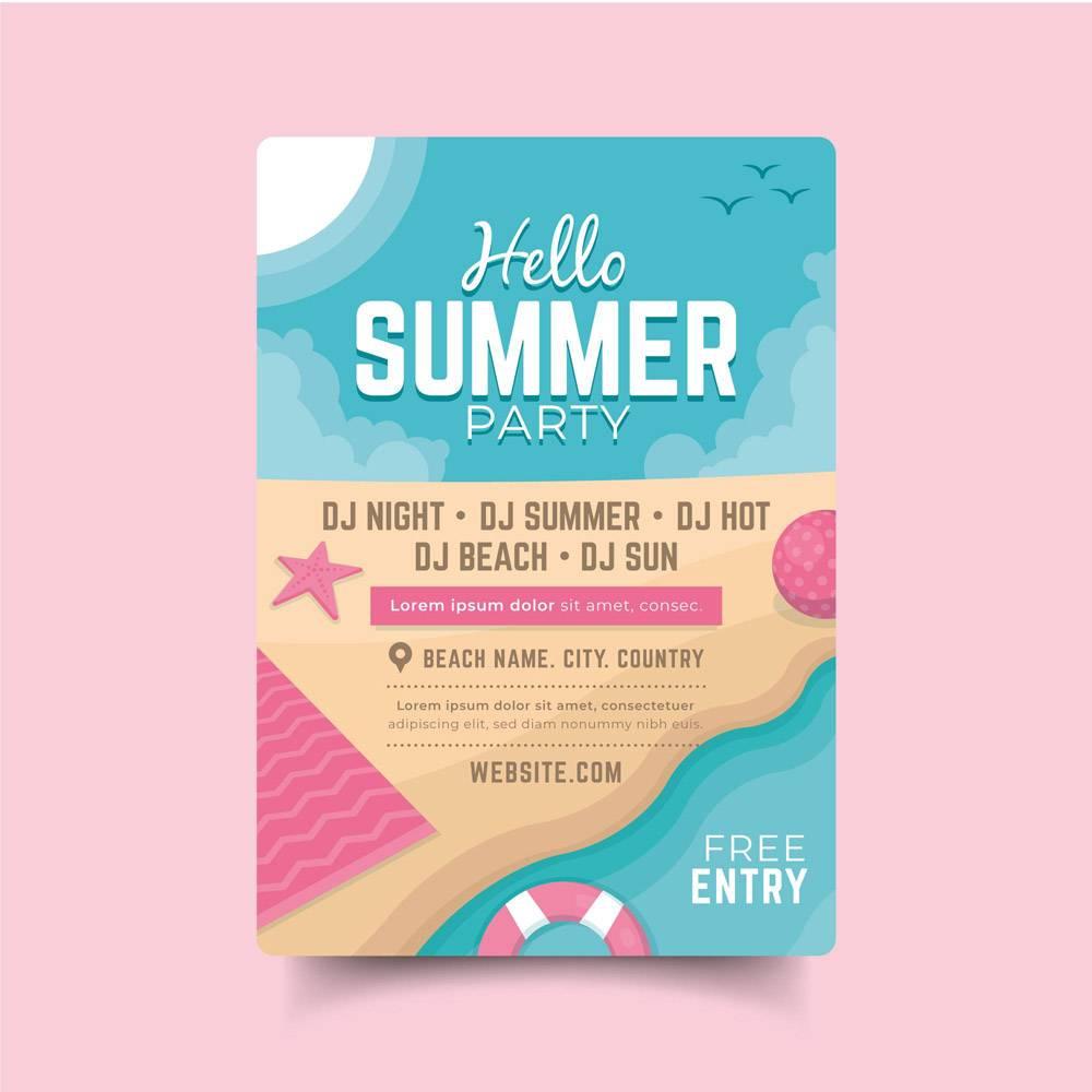 平淡的夏日派对海报_8009445
