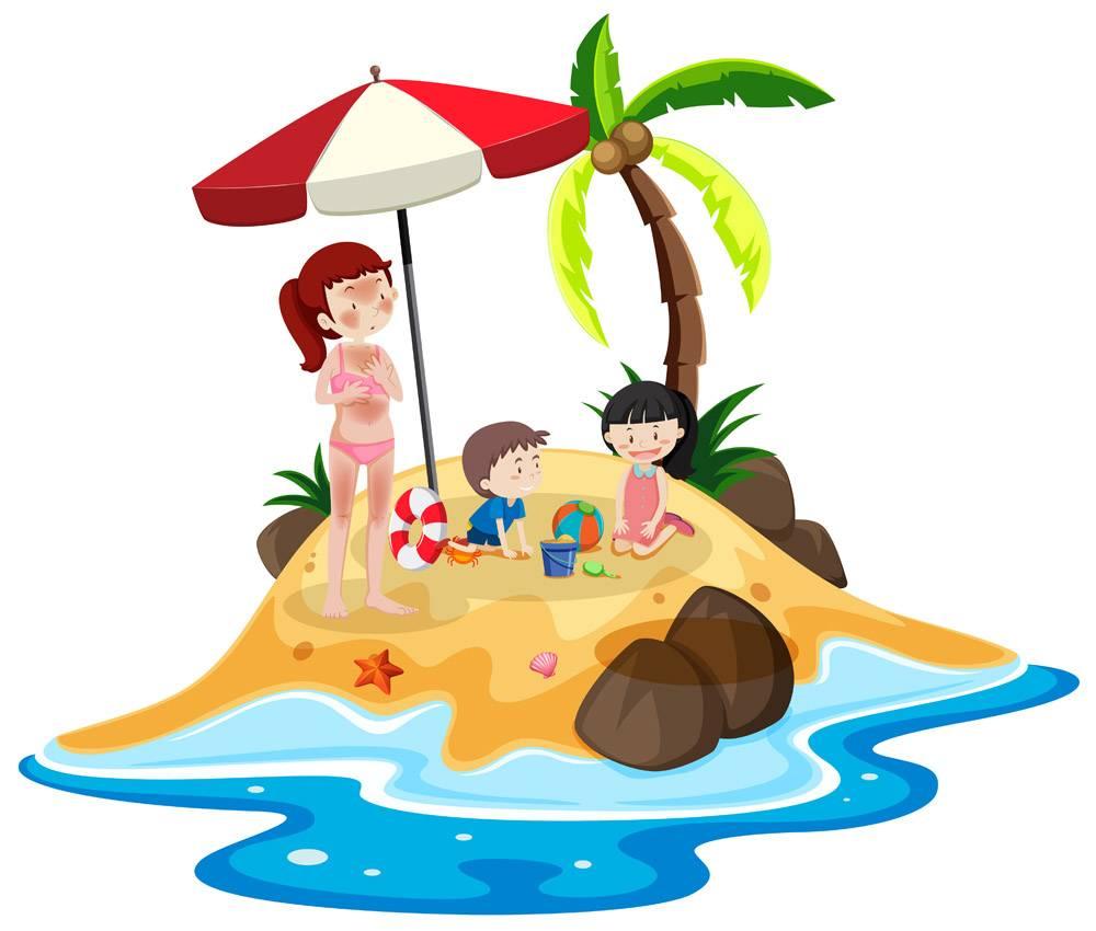 岛上度假的人_4453040