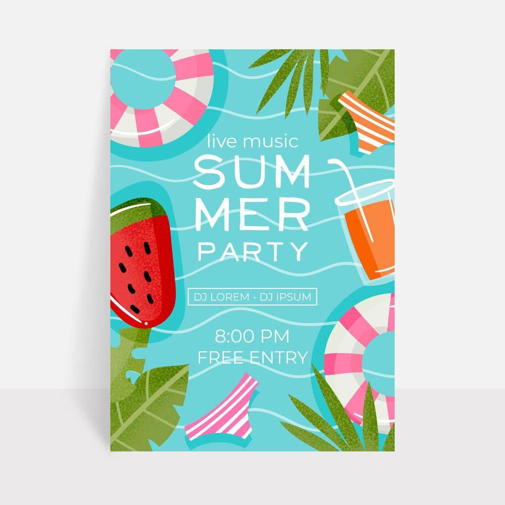 平淡的夏日派对海报_8510808