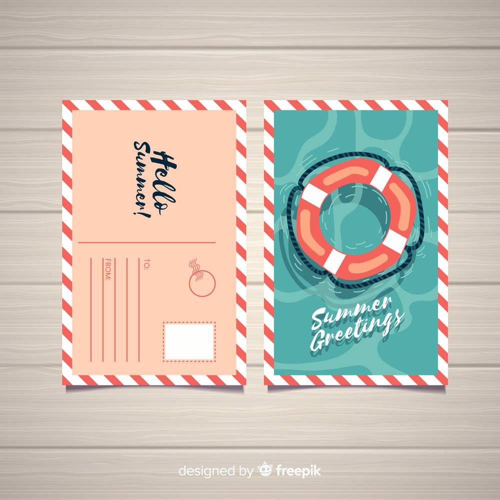 平淡的暑假明信片_4375258