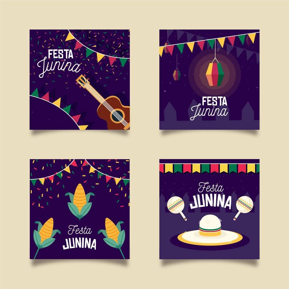 平面设计Festa Junina卡片收藏集_7958191