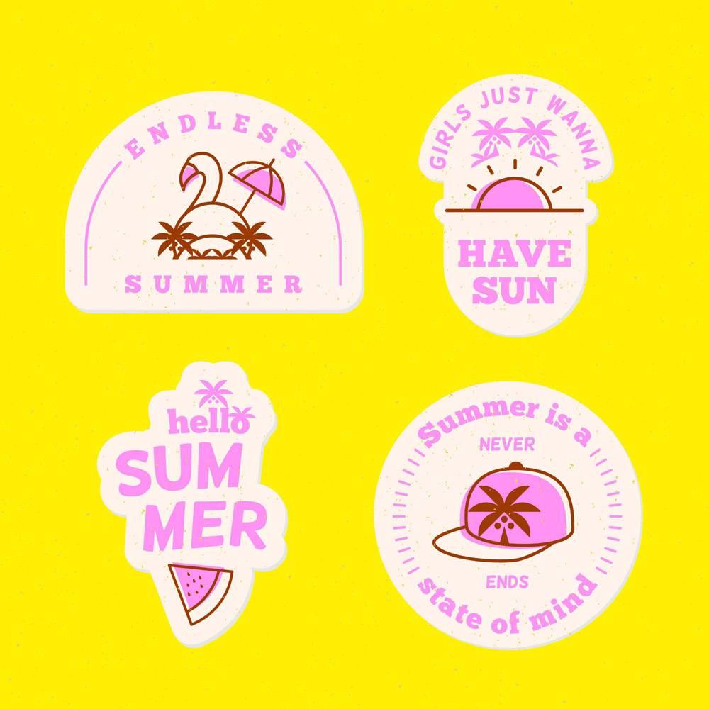 平面设计夏季徽章系列_8356921