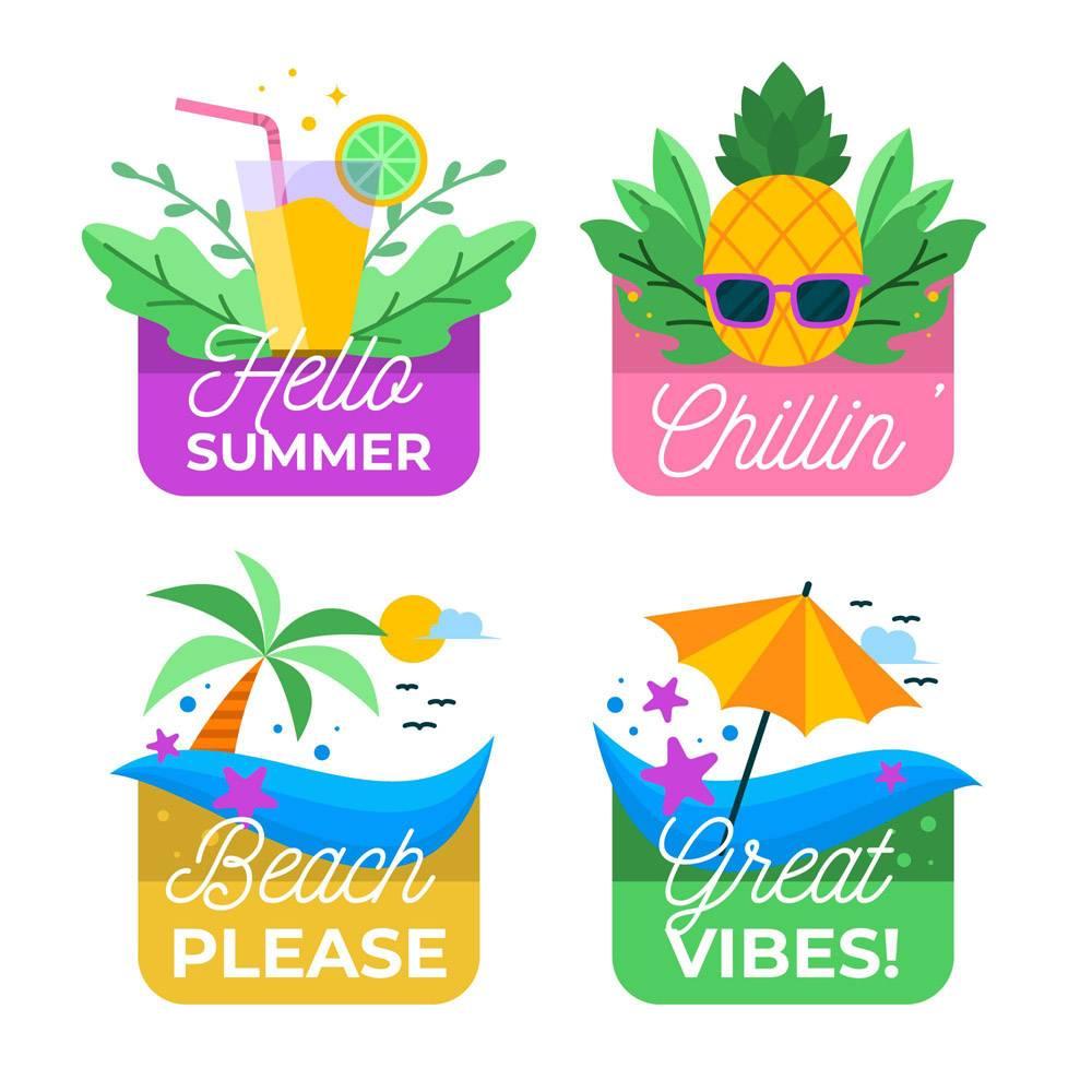 平面设计夏季徽章系列_8486347