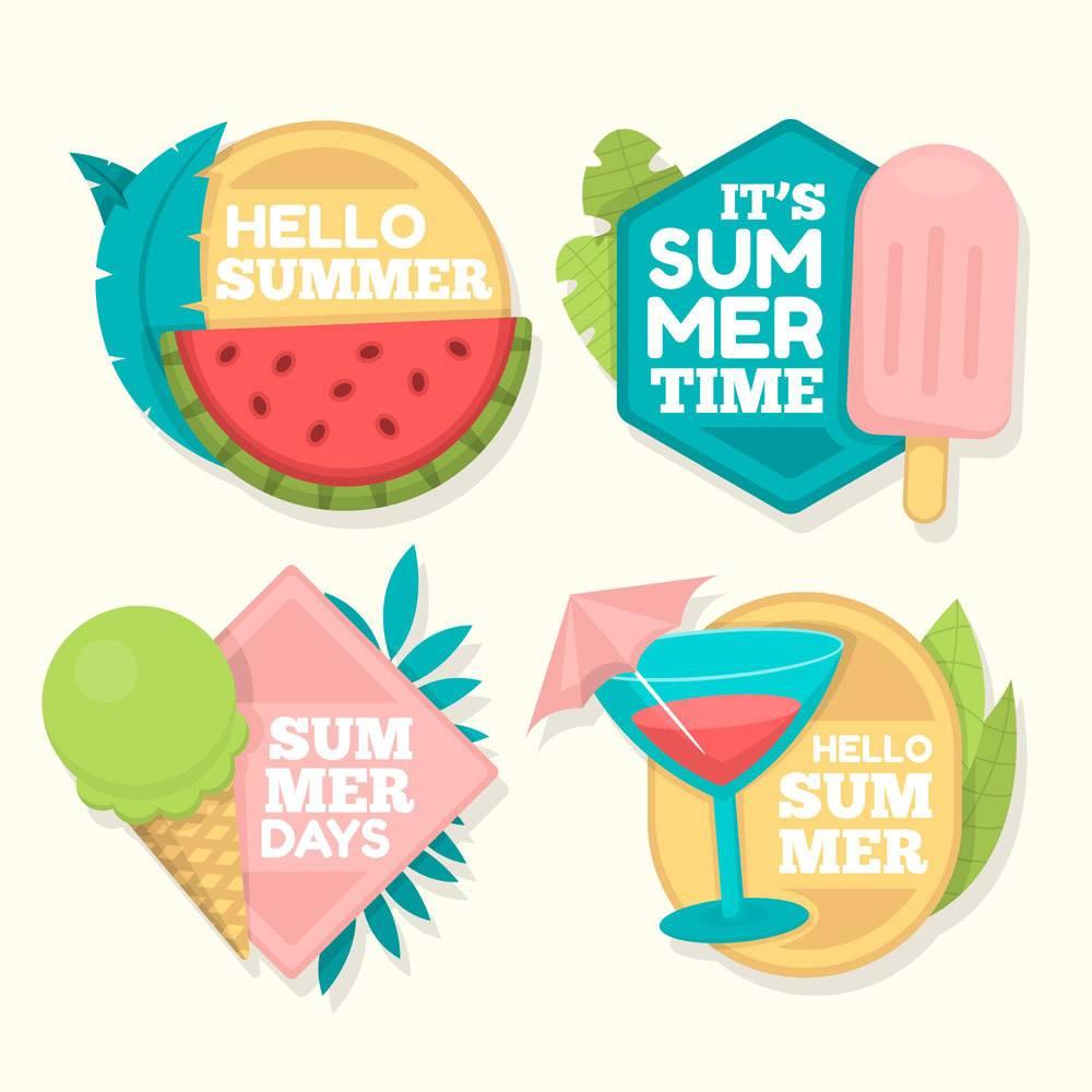 平面设计夏季徽章系列_8513830