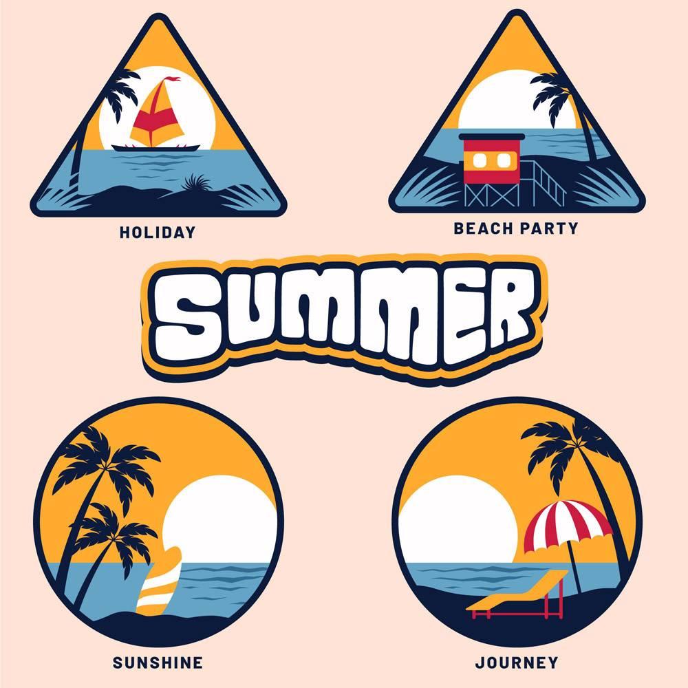 平面设计夏季徽章系列_9002327