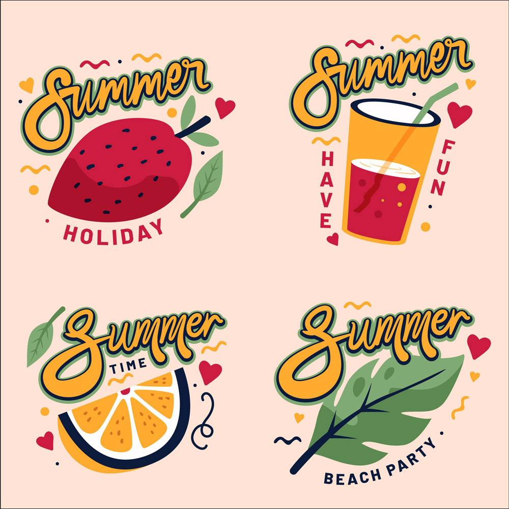 平面设计夏季徽章系列_9002329