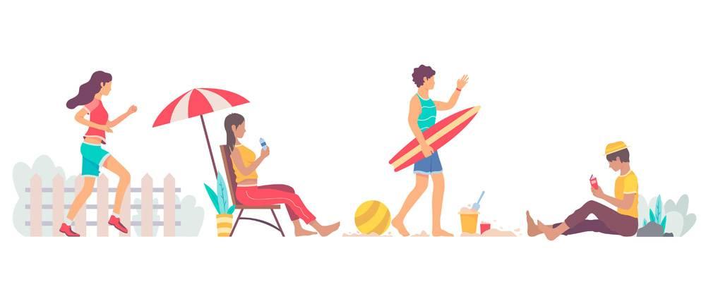 平面设计夏季户外活动套装_9905155