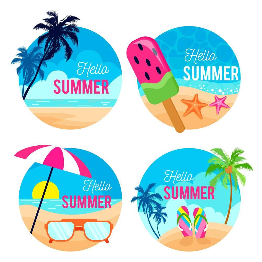 平面设计夏季标签_8132580