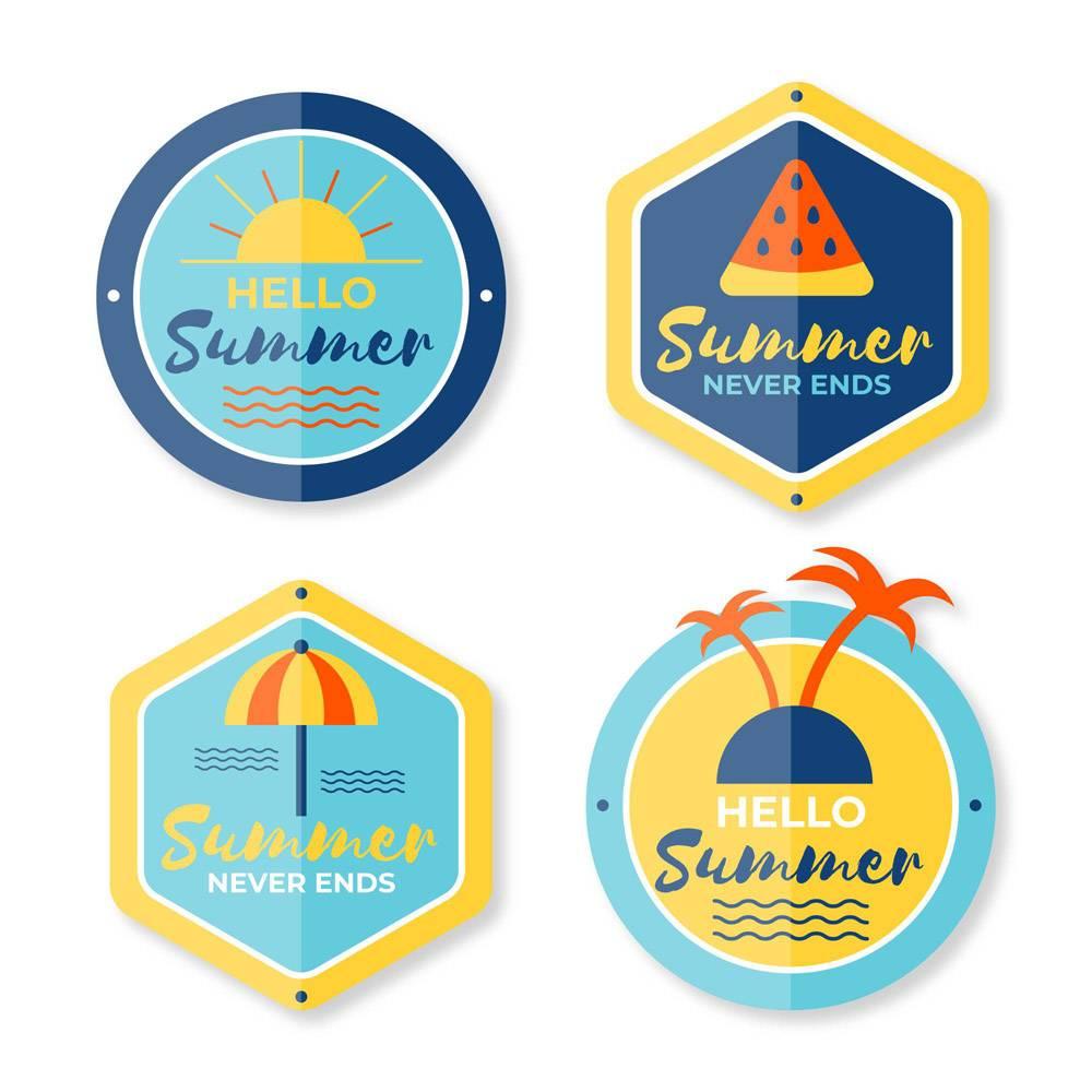平面设计夏季标签_8355277