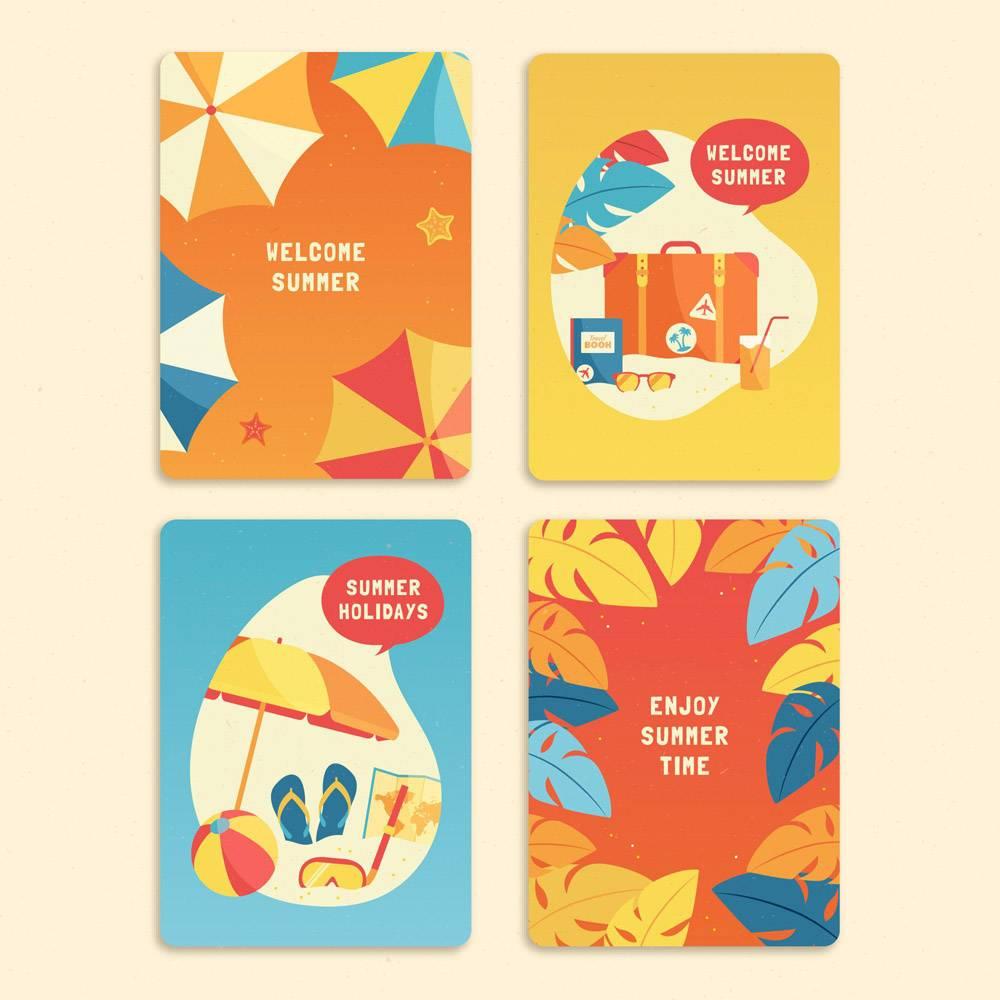平面设计夏日卡片收藏_7958282